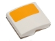 Part No: 15068pb015R  Name: Slope, Curved 2 x 2 with Bright Light Orange Stripe Pattern Model Right Side (Sticker) - Set 75053