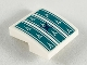 Part No: 15068pb213  Name: Slope, Curved 2 x 2 with Dark Turquoise Seat Cushion Pattern (Sticker) - Set 41164