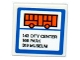Part No: 15210pb025  Name: Road Sign 2 x 2 Square with Open O Clip with Orange Bus, '143 CITY CENTER', '166 PARK' AND '319 MUSEUM' Pattern (Sticker) - Set 60104