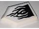 Part No: 22385pb205  Name: Tile, Modified 2 x 3 Pentagonal with Black Flames on White Background Pattern (Sticker) - Set 76151