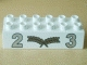 Part No: 2300pb002  Name: Duplo, Brick 2 x 6 with Silver Numbers 2 and 3 with Center Gold Laurels Pattern