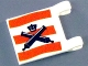 Part No: 2335pb003  Name: Flag 2 x 2 Square with Crossed Cannons over Red Stripes, No Outline Pattern