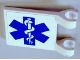 Part No: 2335pb016  Name: Flag 2 x 2 Square with EMT Star of Life Pattern on Both Sides (Stickers) - Set 3312