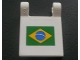 Part No: 2335pb021  Name: Flag 2 x 2 Square with Brazilian Flag Pattern (Sticker) - Set 8672