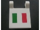 Part No: 2335pb023  Name: Flag 2 x 2 Square with Italian Flag Pattern (Sticker) - Set 8672