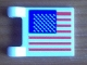 Part No: 2335pb087  Name: Flag 2 x 2 Square with United States Flag Pattern on One Side (Sticker) - Set 8679