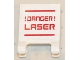 Part No: 2335pb108  Name: Flag 2 x 2 Square with '!DANGER! LASER' Pattern (Sticker) - Set 5985