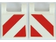 Part No: 2335pb199  Name: Flag 2 x 2 Square with Red and White Diagonal Stripes Pattern on Both Sides (Stickers) - Set 42054