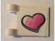 Part No: 2335pb205  Name: Flag 2 x 2 Square with Striped Pink Heart Pattern (Sticker) - Set 41333