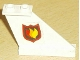 Part No: 2340pb023R  Name: Tail 4 x 1 x 3 with Fire Logo Badge Pattern on Right Side (Sticker)