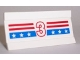 Part No: 2440pb007  Name: Vehicle, Spoiler / Plow Blade 6 x 3 with Hinge with Red and Blue Stripes with White Number 3 and Stars Pattern (Sticker) - Set 1992