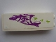Part No: 2454pb039  Name: Brick 1 x 2 x 5 with Purple Paint and Lime Symbols on White Background Pattern (Sticker) - Set 8161