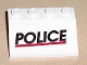 Part No: 2513pb02  Name: Vehicle, Mudguard 3 x 4 Slope with 'POLICE' Red Line Pattern (Sticker) - Set 6398/6625