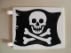 Part No: 2525p01s  Name: Flag 6 x 4 with Skull and Crossbones (Jolly Roger) Pattern on Both sides (Stickers) - Set 6285