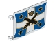 Part No: 2525pb007  Name: Flag 6 x 4 with Crossed Cannons over Blue and White Cross with Yellow Outline Pattern on Both Sides