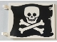 Part No: 2525pb012  Name: Flag 6 x 4 with Flat Skull and Crossbones (Jolly Roger) Pattern on Both Sides