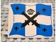 Part No: 2525px2  Name: Flag 6 x 4 with Black Crossed Cannons and Crown over Blue and White Cross Pattern on Both Sides