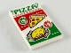 Part No: 26603pb047  Name: Tile 2 x 3 with Red and Green 'PIZZA' Ad Pattern