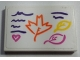 Part No: 26603pb068  Name: Tile 2 x 3 with 3 Leaves, Heart and Dark Purple Lines Pattern (Sticker) - Set 41169