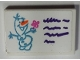 Part No: 26603pb069  Name: Tile 2 x 3 with Drawing of Olaf and Dark Purple Lines Pattern (Sticker) - Set 41169
