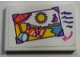 Part No: 26603pb070  Name: Tile 2 x 3 with Picture of Beach Scene and Dark Purple Lines Pattern (Sticker) - Set 41169