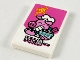 Part No: 26603pb102  Name: Tile 2 x 3 with Dark Pink Background, Pigsy, and Chinese Logogram '天下第一' (World First) Pattern (Sticker) - Set 80012