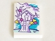 Part No: 26603pb141  Name: Tile 2 x 3 with Medium Lavender Tree House and Ladder Pattern (Sticker) - Set 41332