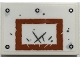 Part No: 26603pb163  Name: Tile 2 x 3 with Dark Orange Rectangle with Scratches, Silver Rivets, Basketball Backboard Pattern (Sticker) - Set 70435