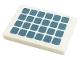 Part No: 26603pb166  Name: Tile 2 x 3 with Solar Panel with Metallic Light Blue Squares Pattern (Sticker) - Set 41443
