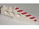 Part No: 2744pb019L  Name: Technic, Slope Long with Red and White Danger Stripes Pattern Left (Sticker) - Set 7207
