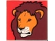 Part No: 2756pb073  Name: Duplo Tile 2 x 2 x 1 with Lion Mosaic Picture 01 Pattern (Set 1019)