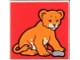 Part No: 2756pb088  Name: Duplo Tile 2 x 2 x 1 with Lion Mosaic Picture 16 Pattern (Set 1019)