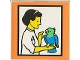 Part No: 2756pb148  Name: Duplo Tile 2 x 2 x 1 with Town Mosaic Picture 04 Pattern (Set 9221)