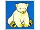 Part No: 2756pb169  Name: Duplo Tile 2 x 2 x 1 with Polar Bear Mosaic Picture 07 Pattern (Set 1079)