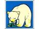 Part No: 2756pb170  Name: Duplo Tile 2 x 2 x 1 with Polar Bear Mosaic Picture 08 Pattern (Set 1079)