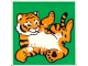 Part No: 2756pb190  Name: Duplo Tile 2 x 2 x 1 with Tiger Mosaic Picture 10 Pattern (Set 1079)