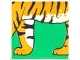 Part No: 2756pb197  Name: Duplo Tile 2 x 2 x 1 with Tiger Mosaic Picture 17 Pattern (Set 1079)