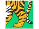 Part No: 2756pb198  Name: Duplo Tile 2 x 2 x 1 with Tiger Mosaic Picture 18 Pattern (Set 1079)