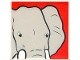 Part No: 2756pb201  Name: Duplo Tile 2 x 2 x 1 with Elephant Mosaic Picture 03 Pattern (Set 1079)