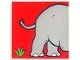 Part No: 2756pb205  Name: Duplo Tile 2 x 2 x 1 with Elephant Mosaic Picture 07 Pattern (Set 1079)