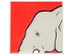 Part No: 2756pb211  Name: Duplo Tile 2 x 2 x 1 with Elephant Mosaic Picture 13 Pattern (Set 1079)