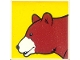 Part No: 2756pb217  Name: Duplo Tile 2 x 2 x 1 with Brown Bear Mosaic Picture 01 Pattern (Set 1079)