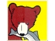 Part No: 2756pb231  Name: Duplo Tile 2 x 2 x 1 with Brown Bear Mosaic Picture 15 Pattern (Set 1079)