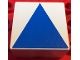 Part No: 2756pb391  Name: Duplo Tile 2 x 2 x 1 with Shape Blue Isosceles Triangle Pattern