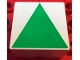 Part No: 2756pb399  Name: Duplo Tile 2 x 2 x 1 with Shape Green Isosceles Triangle Pattern
