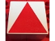 Part No: 2756pb407  Name: Duplo Tile 2 x 2 x 1 with Shape Red Isosceles Triangle Pattern