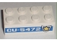 Part No: 3001pb070  Name: Brick 2 x 4 with 'CU-5472' and Badge Pattern on Both Sides (Stickers) - Set 8196