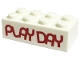 Part No: 3001pb131  Name: Brick 2 x 4 with 'PLAY DAY' Pattern (PlayDay 2018)