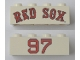 "Part No: 3001pb144  Name: Brick 2 x 4 with ""RED SOX"" and ""97"" Pattern"