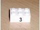 Part No: 3002pb12  Name: Brick 2 x 3 with Black '3' Pattern (Sticker) - Set 8389